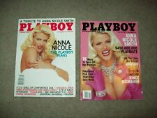 2 PLAYBOY MAGAZINE ANNA NICOLE SMITH COVERS 2/01 & 5/07  CENTERFOLDS playmates