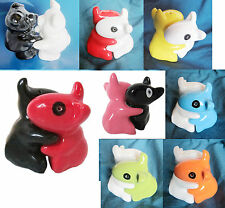 DOG / PIG NOVELTY Salt & Pepper SETS SHAKERS POTS PORCELAIN new BLACK/WHITE/RED