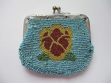 Vintage 1921 Native American Indian Beaded Coin Change Purse Nez Perce Yakima