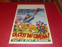 Cinema Plakat Original Belgisches Ca C'Est Du M.Sennett Laurel & Hardy 1951