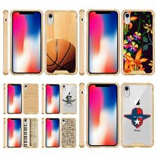 For Apple iPhone XR Slim Fitted Flexible TPU Case Shock Bumper Gold