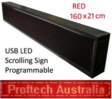 New RED Programmable USB LED Message Scrolling Digital Display Sign 160x20 cm R