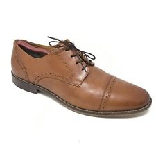 Men's Florsheim Marino Oxfords Dress Shoes Size 10D Brown Leather Cap Toe H6
