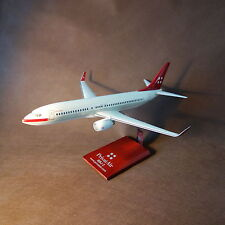 1/100 Privatair Boeing B737-800 BBJ Airplane Model with wooden Stand