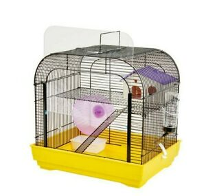 Syrian Dwarf Hamster Gerbil Mouse Rat Rodent Small Pet Cage House Wheel Easipet