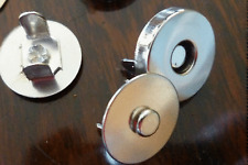 Silver tone Magnetic clasps, fasteners for bags purses 2 to 20 sets 14mm  18mm