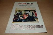 JEAN JACQUES GOLDMAN - CELINE DION - 1 FILLE 4 TYPES plv carton 21 x 29.7 cm