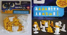 WALL E BAG O BOTS 15 FIGURE ROBOT SET EVE M O PAINTBOT CAKE TOPPERS NEW MISP !