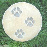 Dog cat paw prints plaque mold plaster concrete casting mould