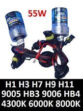Pair of 55W HID Replace Bulbs H1 H3 H4 H7 H9 H11 9005 HB3 9006 4300K 6000k 8000K
