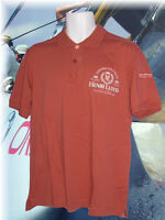 New  Vintage HENRI LLOYD Thistle POLO SHIRT BMW American Crew Cotton Rust  L
