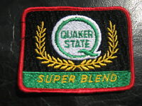 "QUAKER STATE EMBROIDERED SEW ON PATCH SUPER BLEND OIL COLLECTIBLE 3 1/2"" x 3"""
