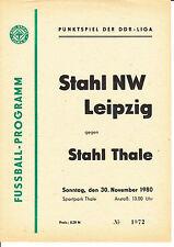 DDR-Liga 80/81 ZEPA acero Thale-BSG acero noroeste 30.11.1980 Leipzig