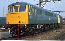 Electric Locomotive 86214 in BR Blue Livery Crewe 1979 unused postcard