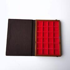 ZECCHI Libro Vassoio per 24 MONETE fino a 25 mm, sterlina marengo antiche romane