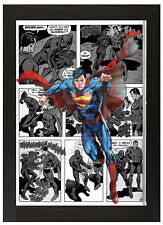 Superman Comic A3 Framed Poster Movie Poster Comic Strip