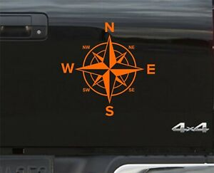 ORANGE Compass Navigation STICKER DECAL GRAPHICS