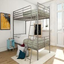 Convertible Bunk Bed Twin Over Twin Metal Bunkbeds Kids Teens Bedroom Furniture