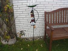 Garten-Wippe Schiff + Leuchtturm, Windspiel, Garten-Pendel, Metall bunt