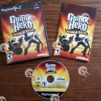 GUITAR HERO WORLD TOUR (  Playstation 2 PS2 )  Tested and Working
