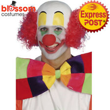 AC53 Mens Clown Rubber Top Wig Red Hair Costume Ronald McDonald IT Circus Funny