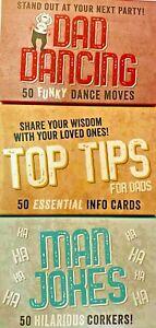 Professor Puzzle Combo - Dad Dancing, Top Tips & Man Jokes 50 Cards Each