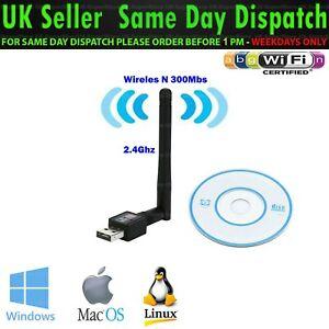 Wireless USB2.0 2.4G  WiFi Network Adapter LAN Card Antenna 802.11N For PC Best