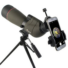 20-60x65mm Zoom Spotting Scope Telescope+Cell Phone Mount Adapter US Free Ship