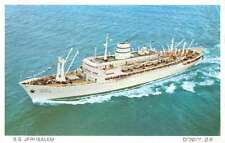 Aerial view showing S.S. Jerusalem at sea large ship antique pc Z33337