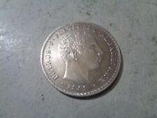 PORTUGAL 500 REIS SILVER 1859 AU