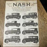 Vintage 1924 Nash Motor Car Automobile Car Ephemera Print Ad