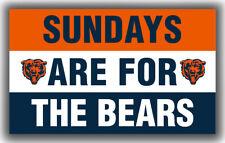 Chicago Bears Team Sundays Are For The Bears Flag 90x150cm 3x5ft Banner