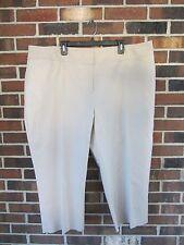 b1d545a33a817 NWT Womans 24W Khaki Beige Cropped Capri Pants Slacks Stretch Dana Buchman