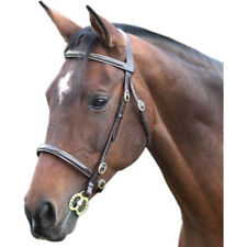 Shires Blenheim Fancy Stitched Inhand Bridle Full Black LAST ONE