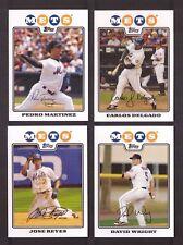 2008 Topps NEW YORK METS Team Set Series 1 & 2 w/ Updates 30 Cards