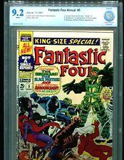 Fantastic Four Annual 5 CBCS 9.2 1st Solo Silver Surfer RARE Marvel comics cgc