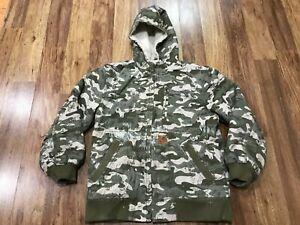 BOYS MEDIUM (10-12) - Carhartt Sandstone Sherpa Lined Hooded Jacket