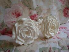 Shabby & Chic Large Rose Curtain Drapery Tie-Backs PAIR (Style #1)