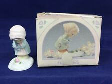 Precious Moments February Miniature Monthly Figurine 1989 Vintage w/ Box
