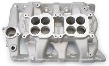 Edelbrock P-65 Dual Quad Intake Manifold 5450 Pontiac V8 Fits Stock Heads