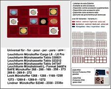 Look 12330-15-50 Plateau pour Monnaies 15 Cases 50 mm Leuchtturm Quadrum