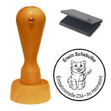 Stempel « Katze 02 » Adressenstempel Motivstempel Holzstempel