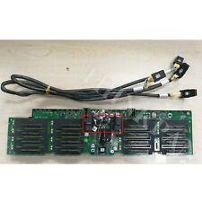 "Dell PowerEdge R910 16 X 2.5"" Slot Hard Drive Backplane J565K 0J565K w/Cable US"