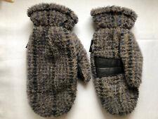 Vintage SARANAC Mittens Sherpa Fleece Lined Ladies M/L