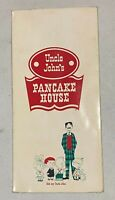 Vintage Original Uncle Johns Pancake House Restaurant Menu
