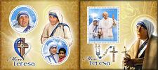 Mother Teresa Pope Jean Paul II Religion Vatican MNH stamp set