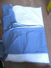 Laura Ashley Home Dust Ruffle Bed Skirt Blue With Trim King Size Unused