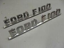 ..F-100 F-250 PAIR NEW 1955-1956 FORD TRUCK CUSTOM CAB DOOR EMBLEMS F-350