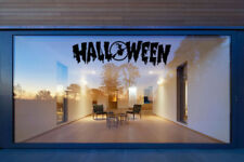 Halloween Text Vinyl Window Stickers Window Wall Decals Home Decorations Witch
