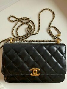CHANEL MINI bag on a gold chain